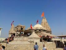 Ο ναός Rukmani κοντά σε Dwarka στοκ φωτογραφία