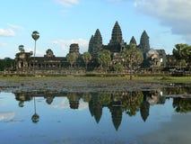 Ο ναός Siem Wat Angkor συγκεντρώνει την Καμπότζη Στοκ Φωτογραφίες