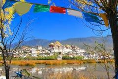 Ο ναός Songzanlin γνωστός επίσης ως μοναστήρι Ganden Sumtseling, είναι ένα θιβετιανό βουδιστικό μοναστήρι στην πόλη Zhongdian (sh Στοκ φωτογραφίες με δικαίωμα ελεύθερης χρήσης
