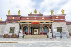 Ο ναός Songzanlin είναι το μεγαλύτερο θιβετιανό μοναστήρι βουδισμού στην επαρχία Yunnan Καλείται μικρό παλάτι Potala ή το ποσό Ga Στοκ εικόνες με δικαίωμα ελεύθερης χρήσης