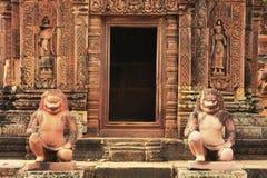 Ο ναός Srey Banteay, Angkor περιοχή, Siem συγκεντρώνει, Καμπότζη Στοκ εικόνες με δικαίωμα ελεύθερης χρήσης
