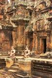 Ο ναός Srey Banteay, Angkor περιοχή, Siem συγκεντρώνει, Καμπότζη Στοκ εικόνα με δικαίωμα ελεύθερης χρήσης