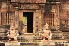 Ο ναός Srey Banteay, Angkor περιοχή, Siem συγκεντρώνει, Καμπότζη Στοκ Εικόνα