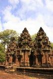 Ο ναός Srey Banteay, Angkor περιοχή, Siem συγκεντρώνει, Καμπότζη Στοκ Φωτογραφία