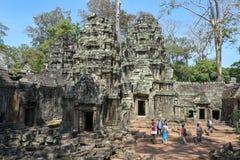 Ο ναός TA Prohm σε Angkor Wat σύνθετο, Siem συγκεντρώνει, Καμπότζη Στοκ Εικόνες