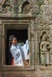 Ο ναός TA Prohm σε Angkor Wat σύνθετο, Siem συγκεντρώνει, Καμπότζη Στοκ Φωτογραφία