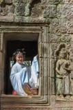 Ο ναός TA Prohm σε Angkor Wat σύνθετο, Siem συγκεντρώνει, Καμπότζη Στοκ φωτογραφία με δικαίωμα ελεύθερης χρήσης