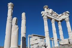 Ο ναός Trajan στην ακρόπολη της Περγάμου, Στοκ φωτογραφία με δικαίωμα ελεύθερης χρήσης