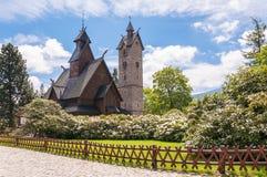 Ο ναός WANG σε Karpacz Στοκ Εικόνες