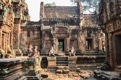 Ο ναός Wat Angkor, Καμπότζη, Siem συγκεντρώνει Στοκ Φωτογραφίες