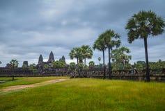 Ο ναός Wat Angkor, παγκόσμια κληρονομιά της ΟΥΝΕΣΚΟ, Siem συγκεντρώνει την επαρχία, Καμπότζη 3 Σεπτεμβρίου 2015 Στοκ Εικόνες
