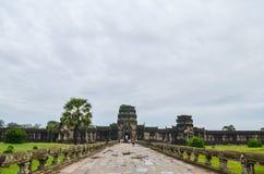 Ο ναός Wat Angkor, παγκόσμια κληρονομιά της ΟΥΝΕΣΚΟ, Siem συγκεντρώνει την επαρχία, Καμπότζη 3 Σεπτεμβρίου 2015 Στοκ εικόνες με δικαίωμα ελεύθερης χρήσης
