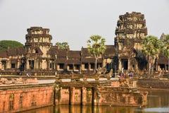 Ο ναός Wat Angkor σε Siem συγκεντρώνει, Καμπότζη Στοκ εικόνα με δικαίωμα ελεύθερης χρήσης