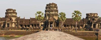 Ο ναός Wat Angkor σε Siem συγκεντρώνει, Καμπότζη Στοκ Φωτογραφίες