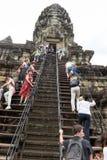 Ο ναός Wat Angkor σε Siem συγκεντρώνει στην Καμπότζη Στοκ Εικόνα