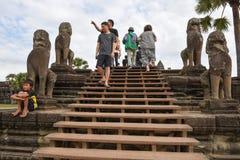 Ο ναός Wat Angkor σε Siem συγκεντρώνει στην Καμπότζη Στοκ εικόνες με δικαίωμα ελεύθερης χρήσης