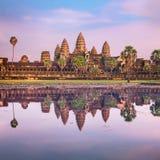 Ο ναός Wat Angkor στην ανατολή, Siem συγκεντρώνει, Καμπότζη Στοκ εικόνες με δικαίωμα ελεύθερης χρήσης