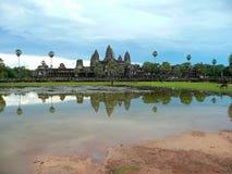 Ο ναός Wat Angkor σύνθετος, Siem συγκεντρώνει στην Καμπότζη Στοκ Εικόνες