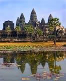 Ο ναός Wat Angkor, Siem συγκεντρώνει, Καμπότζη στοκ φωτογραφίες