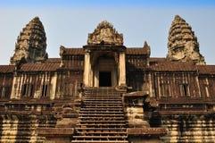 Ο ναός Wat Angkor, Siem συγκεντρώνει, Καμπότζη. Στοκ Φωτογραφία