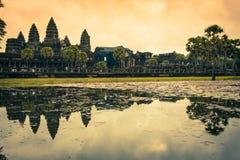 Ο ναός Wat Angkor, Siem συγκεντρώνει, Καμπότζη Στοκ Φωτογραφία