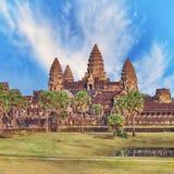 Ο ναός Wat Angkor, Siem συγκεντρώνει, Καμπότζη Στοκ εικόνες με δικαίωμα ελεύθερης χρήσης
