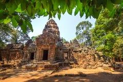 Ο ναός Wat Angkor, Siem συγκεντρώνει, καταστροφές της Καμπότζης Στοκ φωτογραφία με δικαίωμα ελεύθερης χρήσης
