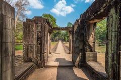 Ο ναός Wat Angkor, Siem συγκεντρώνει, καταστροφές της Καμπότζης Στοκ εικόνες με δικαίωμα ελεύθερης χρήσης