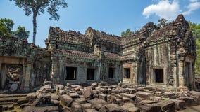 Ο ναός Wat Angkor, Siem συγκεντρώνει, καταστροφές της Καμπότζης Στοκ Φωτογραφία