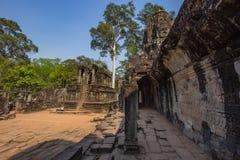 Ο ναός Wat Angkor, Siem συγκεντρώνει, καταστροφές της Καμπότζης Στοκ εικόνα με δικαίωμα ελεύθερης χρήσης