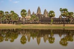 Ο ναός Wat Angkor, Siem συγκεντρώνει, καταστροφές της Καμπότζης Στοκ φωτογραφίες με δικαίωμα ελεύθερης χρήσης