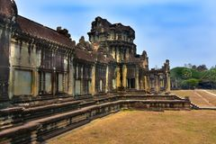 Ο ναός Wat Angkor, Siem συγκεντρώνει Στοκ φωτογραφία με δικαίωμα ελεύθερης χρήσης