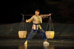 Ο νεαρός άνδρας είχε την όπερα Jiangxi δύναμης ένας στατήρας Στοκ Φωτογραφίες