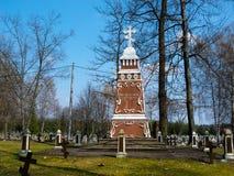 1$ο νεκροταφείο παγκόσμιου πολέμου σε Orzysz Στοκ Φωτογραφία