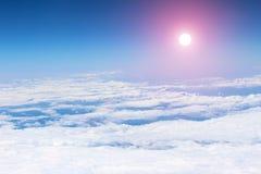 Ο νεφελώδης ουρανός Στοκ Φωτογραφίες