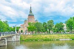 Ο νεω-βυζαντινός καθεδρικός ναός Kharkov Στοκ Φωτογραφία