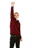 Ο νικητής θέτει Στοκ φωτογραφία με δικαίωμα ελεύθερης χρήσης