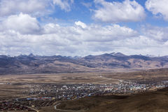 Ο νομός litang στο Θιβέτ Στοκ Φωτογραφία