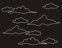 Ο ΝΥΧΤΕΡΙΝΌΣ ΟΥΡΑΝΌΣ ΚΑΙ ΤΑ ΣΥΝΝΕΦΑ απεικόνιση αποθεμάτων