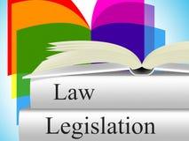 Ο νόμος νομοθεσίας αντιπροσωπεύει το έγκλημα νομιμότητας και δικαστικός διανυσματική απεικόνιση