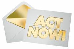 Ο νόμος παίρνει τώρα την ειδική επιστολή φακέλων μηνυμάτων προσφοράς δράσης Στοκ εικόνα με δικαίωμα ελεύθερης χρήσης