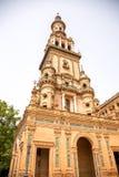 Ο νότιος πύργος Plaza de España, Σεβίλλη Στοκ φωτογραφία με δικαίωμα ελεύθερης χρήσης