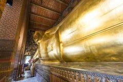 Ο ξαπλώνοντας Βούδας από Wat Pho, ναός του ξαπλώνοντας Βούδα, Μπανγκόκ, Ταϊλάνδη Στοκ εικόνα με δικαίωμα ελεύθερης χρήσης