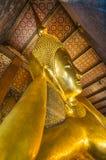 Ο ξαπλώνοντας Βούδας σε Wat Pho Μπανγκόκ Ταϊλάνδη Στοκ φωτογραφία με δικαίωμα ελεύθερης χρήσης