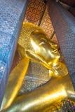 Ο ξαπλώνοντας Βούδας σε Wat Pho Μπανγκόκ Ταϊλάνδη Στοκ Φωτογραφίες