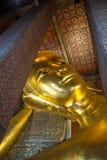 Ο ξαπλώνοντας Βούδας σε Wat Pho Μπανγκόκ Ταϊλάνδη Στοκ Εικόνες