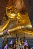 Ο ξαπλώνοντας Βούδας στο ναό Wat Pho Στοκ Εικόνες