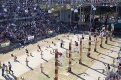 Ο ξύλινος ανταγωνισμός μπριζολών, Σίδνεϊ Πάσχα παρουσιάζει στοκ φωτογραφία