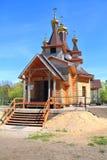 Ο ξύλινος ναός προς τιμή το ST ο δίκαιος John Kronstadt Στοκ Φωτογραφία