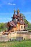 Ο ξύλινος ναός προς τιμή το ST ο δίκαιος John Kronstadt στοκ εικόνες